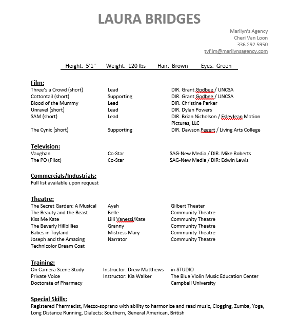 Resume Laura Bridges